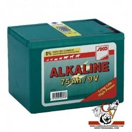 Pila alcalina 9v 75Ah