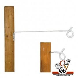Aislador de hilo cola de cerdo poste de madera