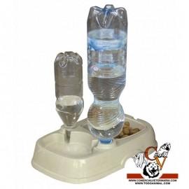Comedero y sifón para botellas de agua