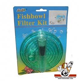 Sistema de filtracion para pecera de bola