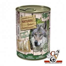 Lata Natural Greatness cordero monoproteica 400g.