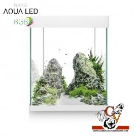Acuario nano aqua led RGB 10 litros