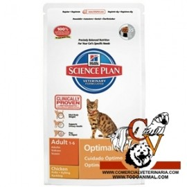 Hill's Science Plan Feline Adult Optimal Care (Pollo)