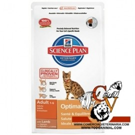 Hill's Science Plan Feline Adult Optimal Care (cordero)
