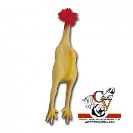 Pollo de goma con sonido