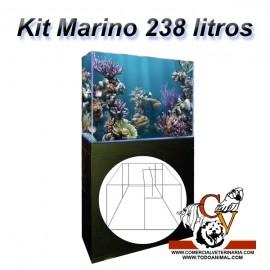 Kit Marino Completo 238 Litros Corales