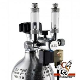 Manoreductor DUAL con válvula solenoide y 2 cont. Burbujas