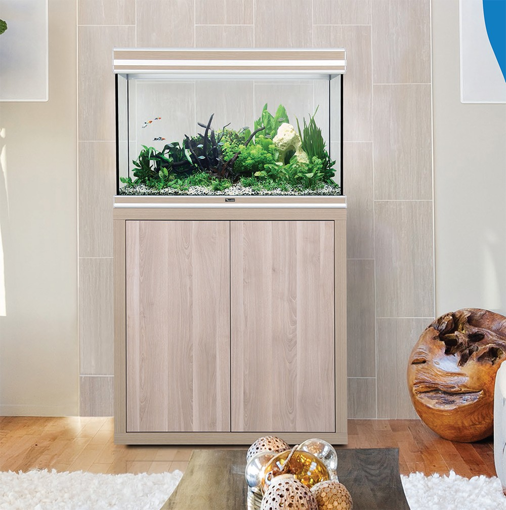 Acuario fusion 200 con pantalla led h2o aquatlantis for Mueble acuario